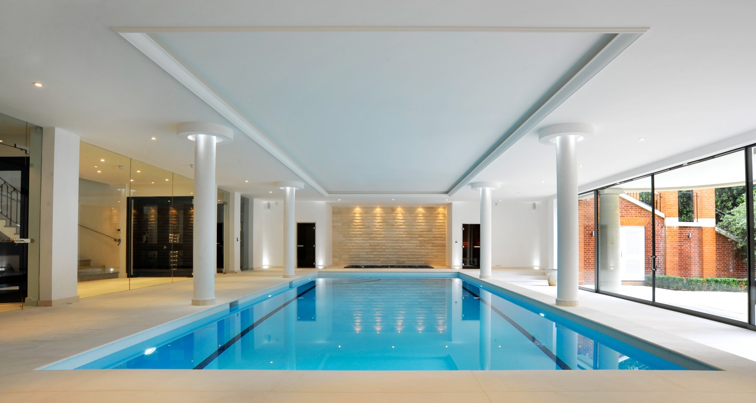 Indoor swimming pool design construction falcon pools for Pool design indoor