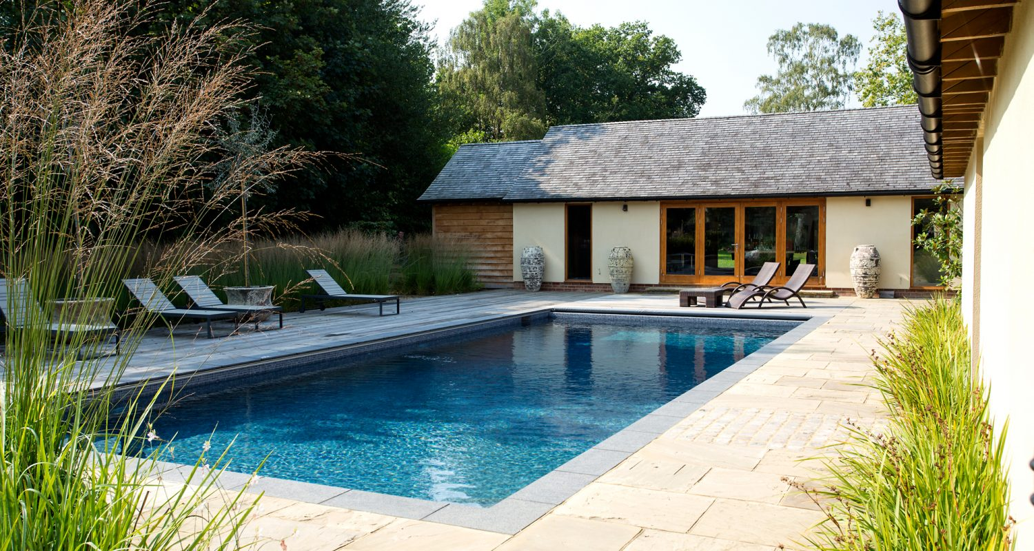 Outdoor Swimming Pool Construction Design Falcon Pools Surrey