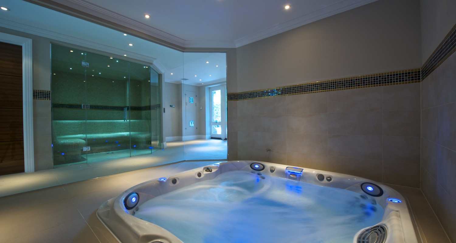 Home indoor pool and hot tub  Jacuzzi & Hot Tub Installation Company | Falcon Pools, Surrey