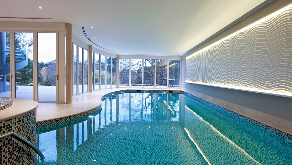 Indoor swimming pool design construction falcon for Swimming pool design jobs