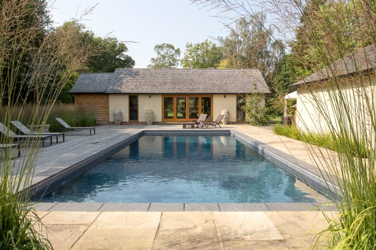 Falcon Pools Outdoor Pool with Pool House