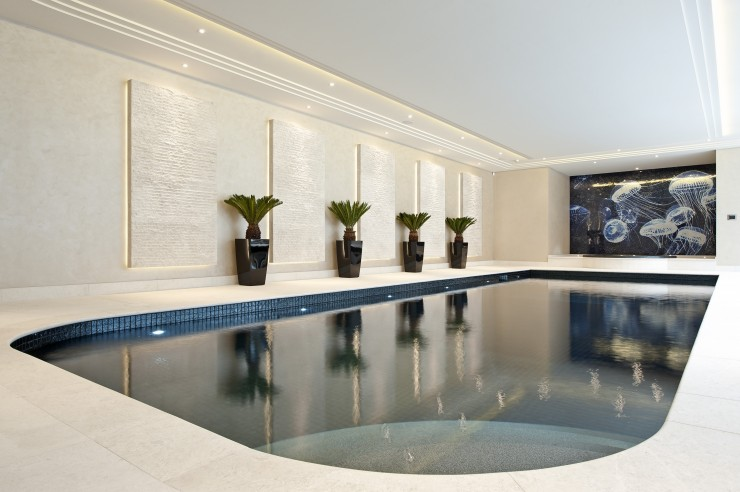Indoor pool curved
