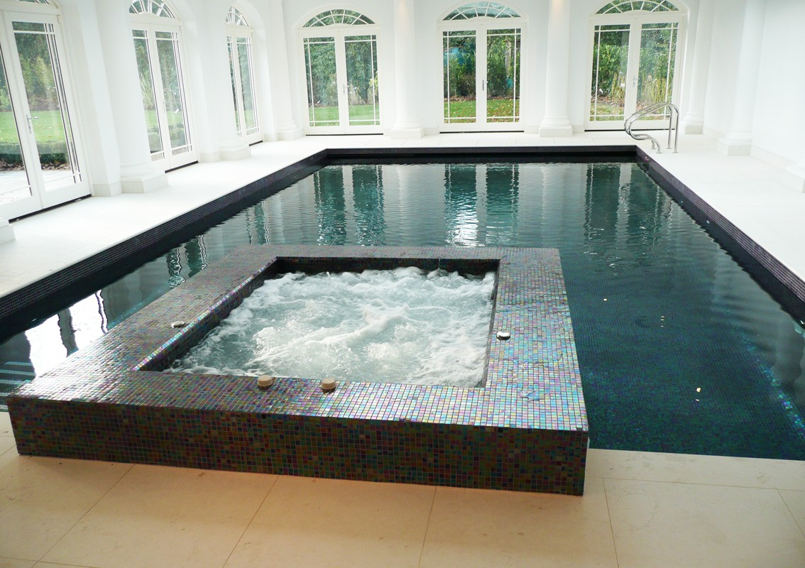 Indoor swimming pool design construction falcon for Plunge pool design uk