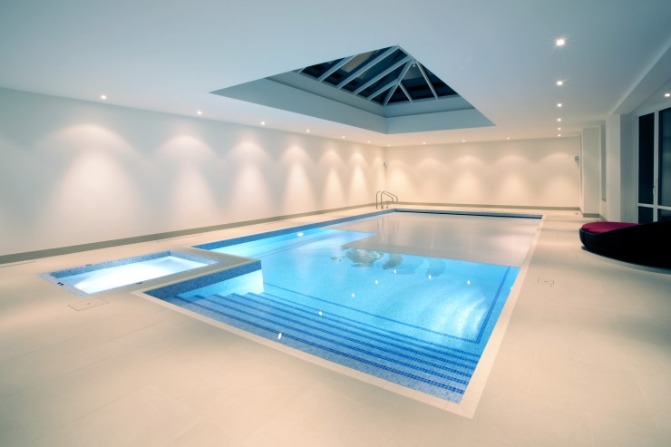 Indoor slatted pool cover