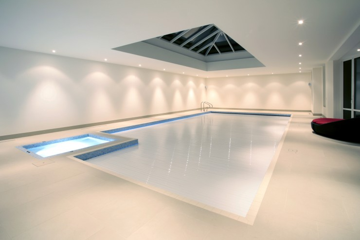indoor pool slatted cover