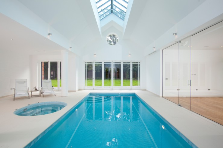 Indoor pool with steps