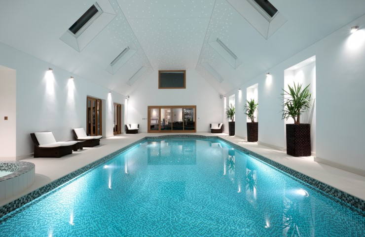 indoor pool with under water lighting