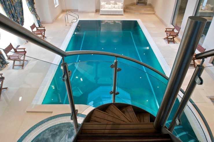 Indoor pool from above