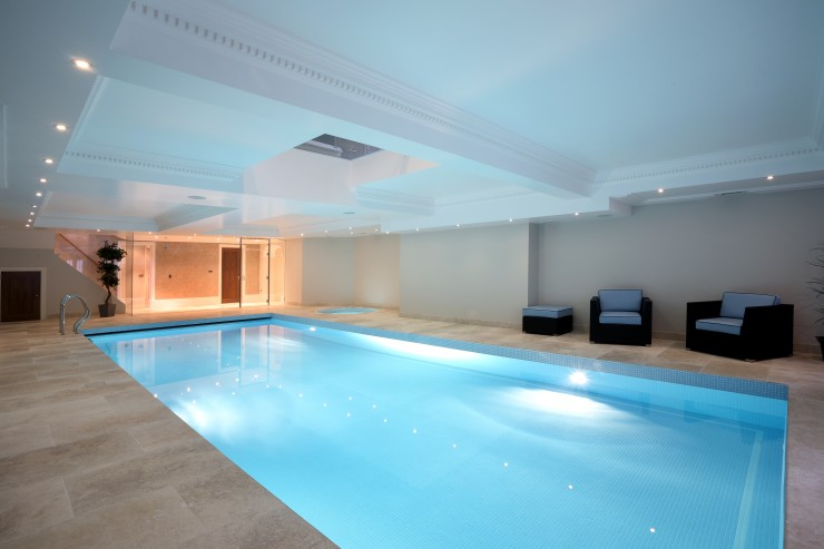 Elegant indoor pool