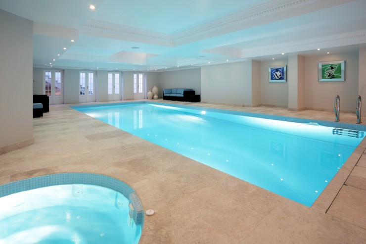 Indoor pool with detail