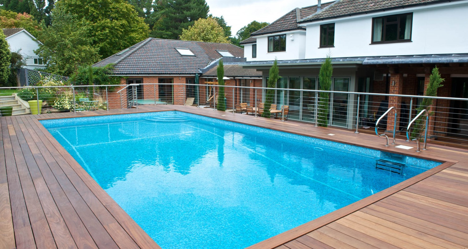 Outdoor home pool  Outdoor Swimming Pool Construction & Design | Falcon Pools, Surrey