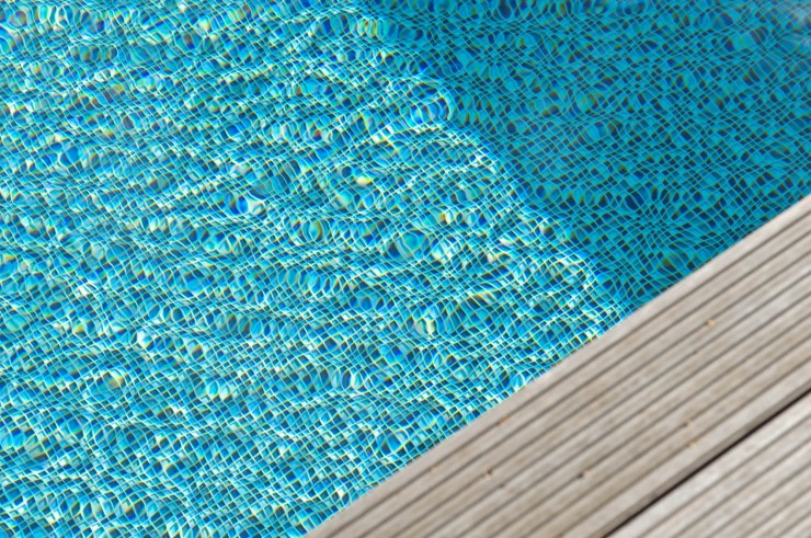Outdoor pool finishes