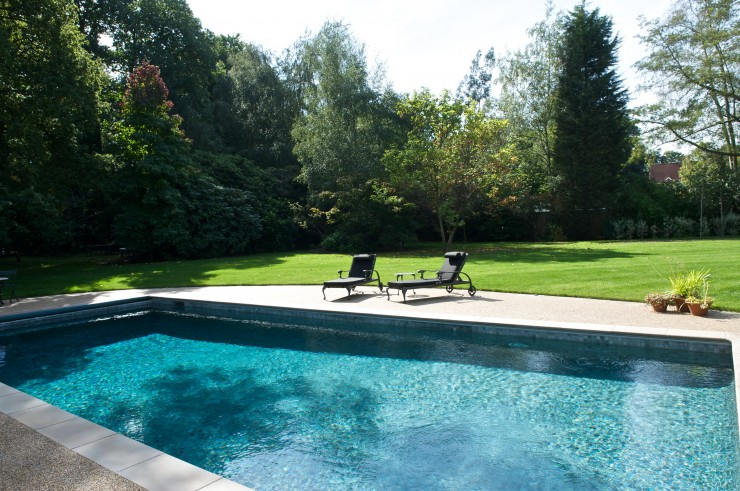 outdoor pool in garden
