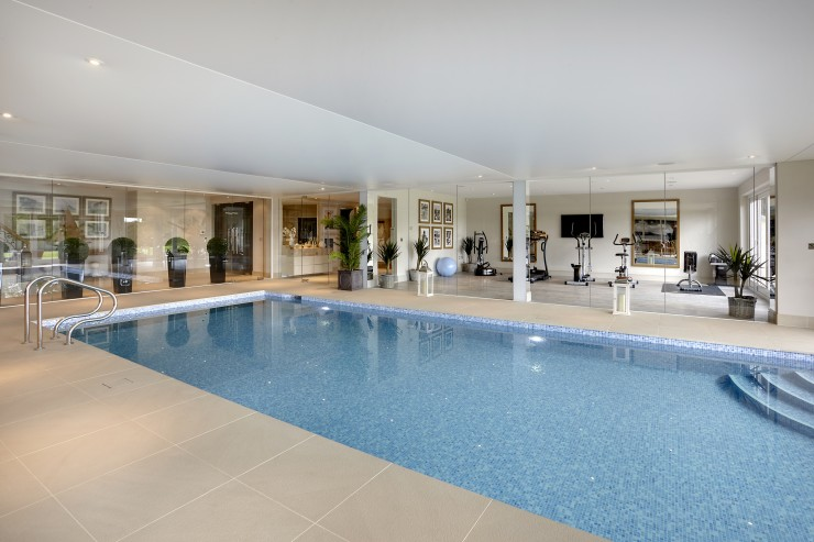 Indoor pool with gym