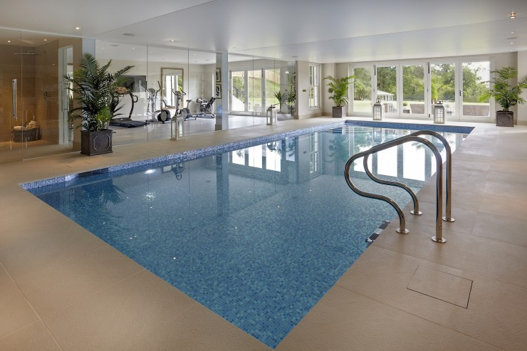 Indoor pool with fitness centre
