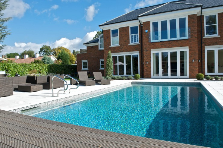 Outdoor pool decking
