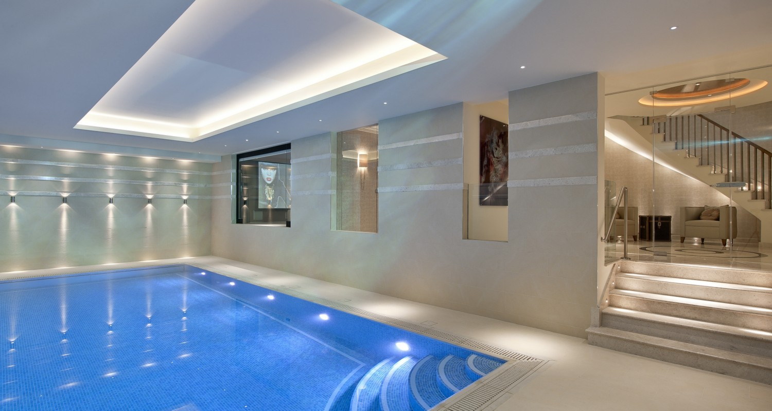 Indoor swimming pool design construction falcon for Pool room design uk
