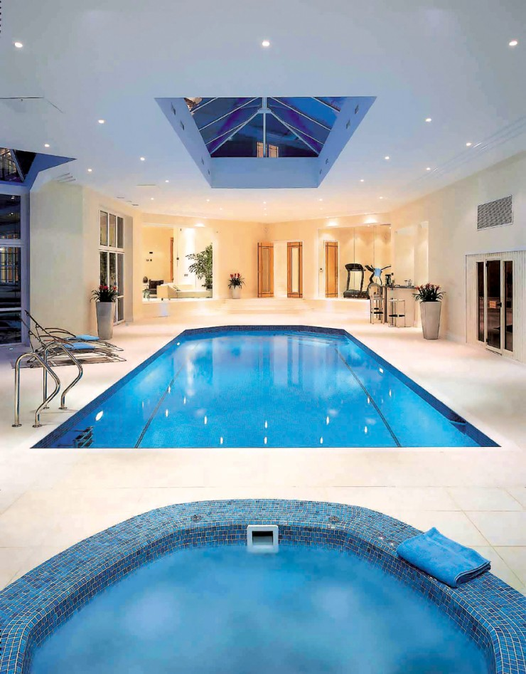 Indoor pool with skylight