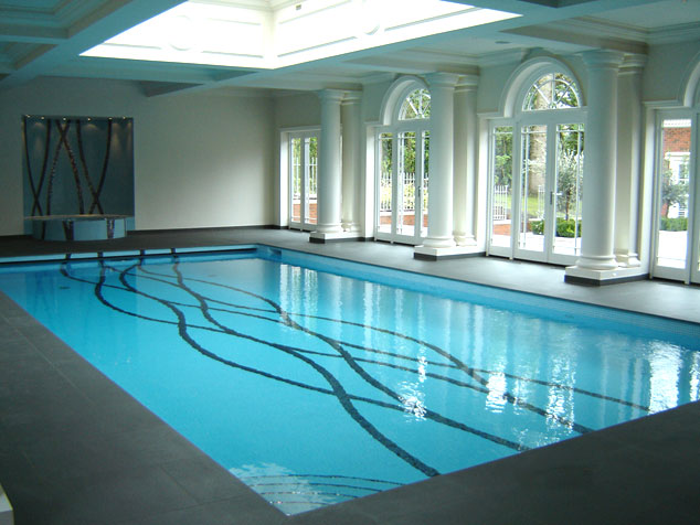 indoor pool with pattern