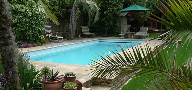 traditional outdoor pool