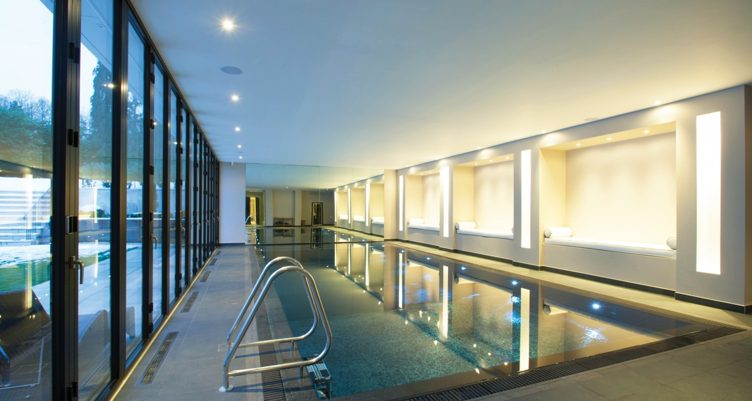 Indoor swimming pool design construction falcon for Pool design company radom