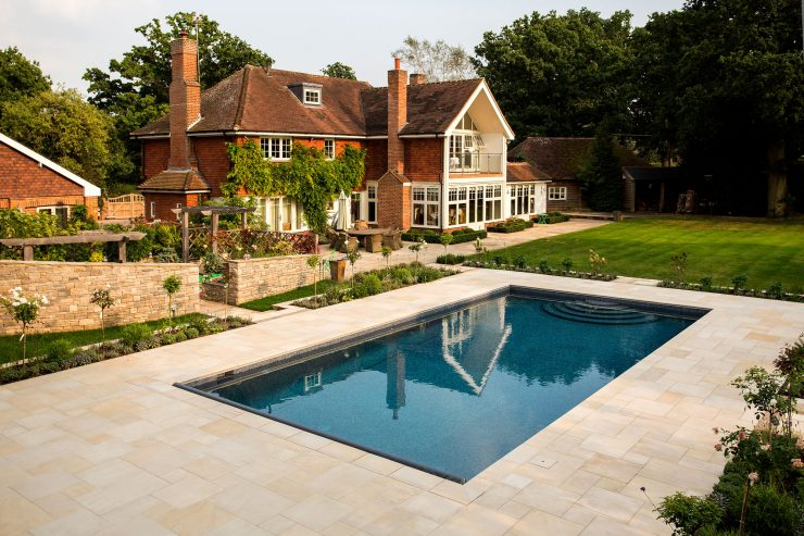 Falcon Pools Outdoor Pool in Garden Setting
